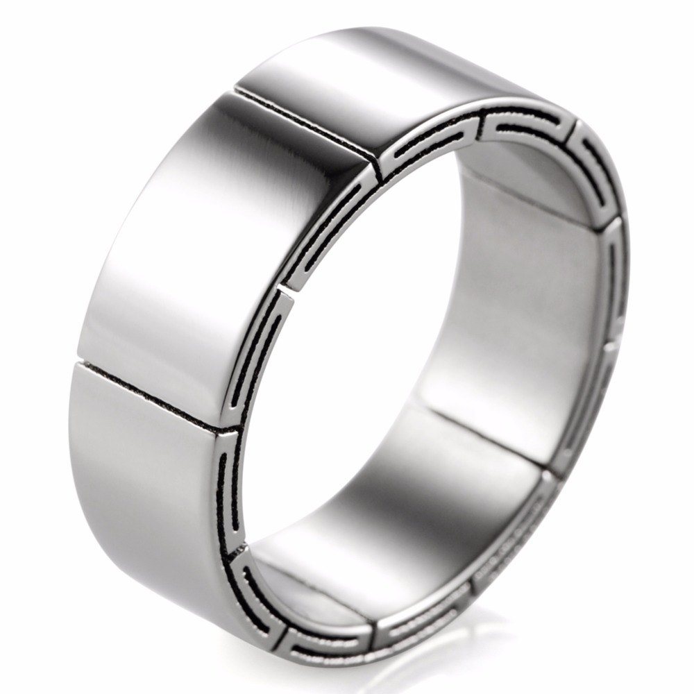 will brushed ring l for plated titanium band wedding king men mens fit comfort black bands products