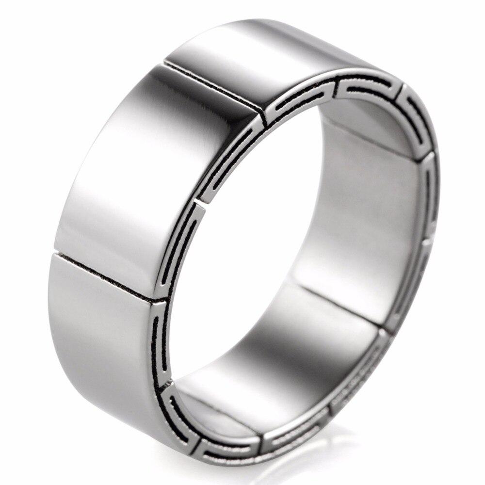 Титановое кольцо обручальное
