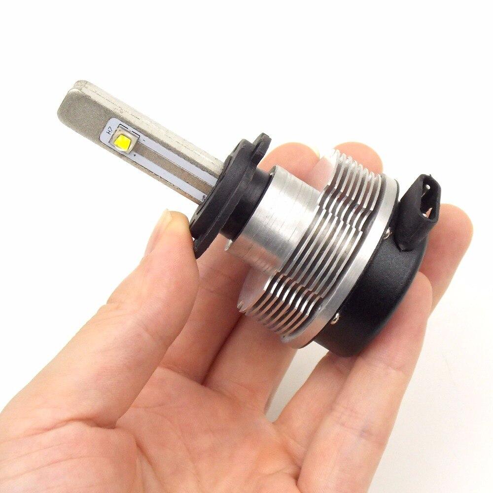 Kit de Conversion d'ampoule de phare LED de voiture de haute qualité H7 12 V 24 V 6000 K 2400LM 20 W lampe de lumière principale automatique de puce de qualité de CREE (une paire) - 2