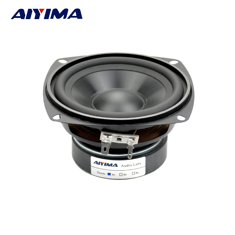 AIYIMA 1Pcs 4Inch Audio Portable Speaker 4Ohm 30W Midrange Bass External Magnetic Speaker Car Audio Home Speakers 6 5 inch hifi home system audio midrange