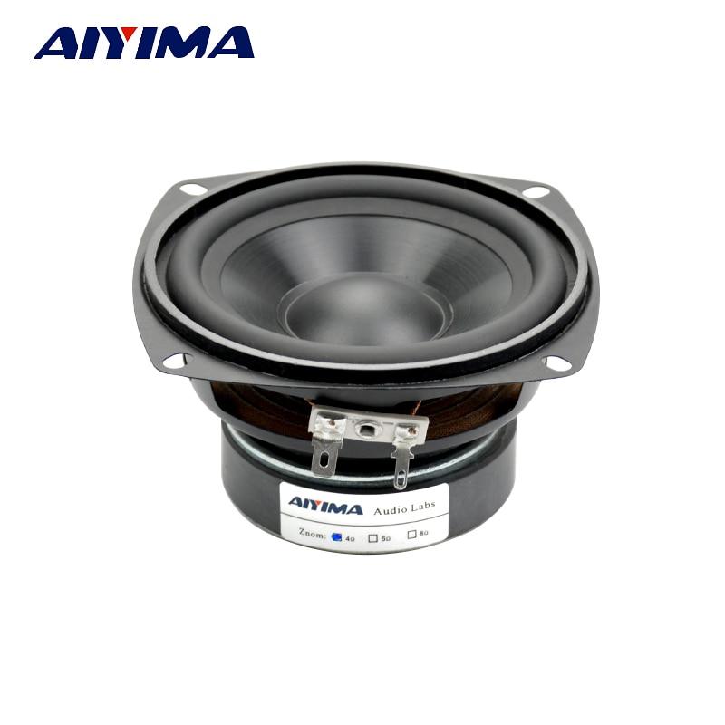 AIYIMA 1Pcs 4Inch Audio Portable Speaker 4Ohm 30W Midrange Bass External Magnetic Speaker Car Audio Home Speakers цена 2017