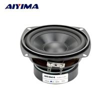 Aiyima 1 шт. аудио Портативный Динамик 4 дюйма 4Ohm 30 Вт СЧ бас внешнего магнитного Динамик Car Audio Home Динамик S