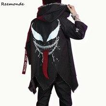 Фильм Веном костюмы для косплея супергероя черная ветровка куртки пальто брюки мальчиков вечерние костюмы на Хэллоуин
