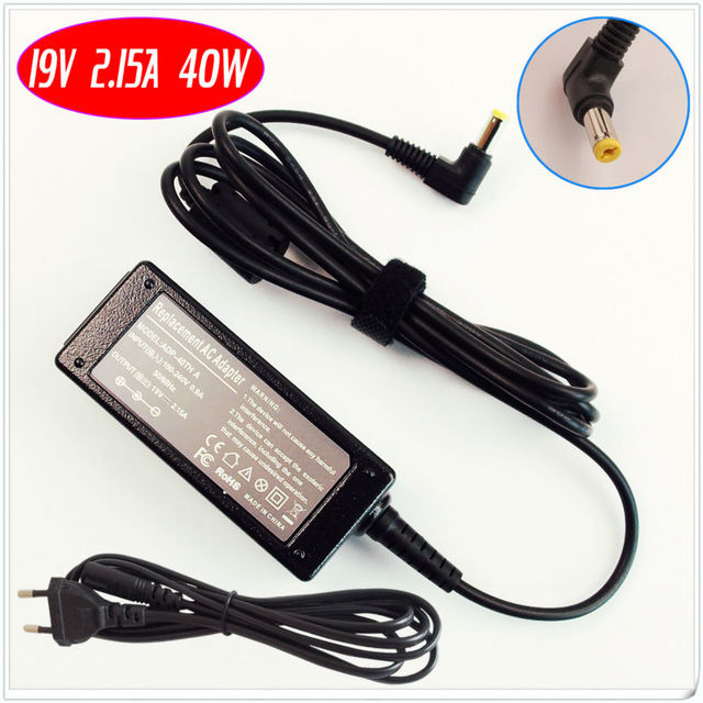 For Acer Aspire One ZG5 ZG8 ZA3 ZH6 ZE6 ZE7  Series Laptop Ac Adapter /Battery Charger 19V 2.15A