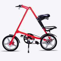 New Red And White Bike 16 Inch Universal Folding Bicycle Aluminum Alloy Bike Wheels Portable Bicycle