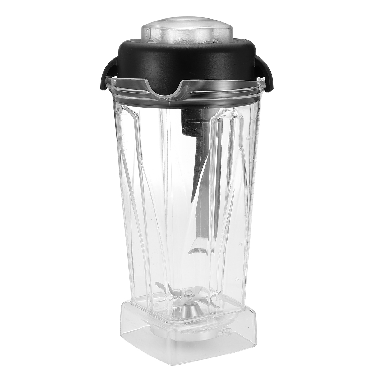 2L Square Container Jar Jug Pitcher Cup bottom with serrated smoothies blades lid BPA FREE for Vitamix spare parts image