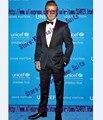 Side Vent Groomsmen Shawl Black Lapel Groom Tuxedos Navy Blue  Mens Suits Wedding Best Man Suit (Jacket+Pants+Bow Tie) C57
