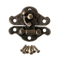 OOTDTY Vintage Zinc Alloy Latch Hasp Pad Chest Lock Plate For Wood Jewelry Box Cabinet