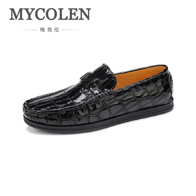 где купить MYCOLEN New Arrival Business Design Men Handmade Driving Shoes Men Casual Loafers Comfortable Male's Flats Sapato Masculino по лучшей цене