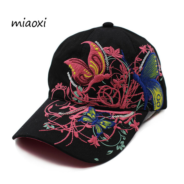 8a48f9b6eeeb1 miaoxi New Women Embroidery Floral Casual Baseball Cap Female Hat Beauty  Summer Comfortable Sun Hats Adjustable