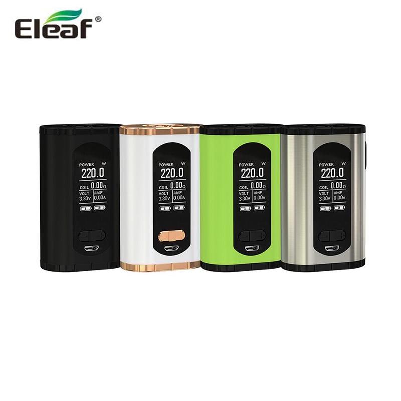 цена Original Eleaf Invoke 220W Box MOD E-Cigarettes Vape larger 1.3-inch Display Support ELLO T Tank in stock