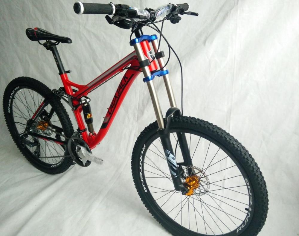Top tyre dirt bike   Full suspension  AM/XC    Hydraulic brakes  new cycling bicicleta mountain bike  21/24/27/30 speed  26*17inch 0