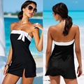 1 conjunto de verão beach wear dress bow preto mini férias meninas sexy swimwear hot sale