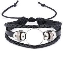 Corda pulseiras para sublimação moda pulseira em branco jóias para impressão de transferência térmica novo estilo 2018 jóias por atacado