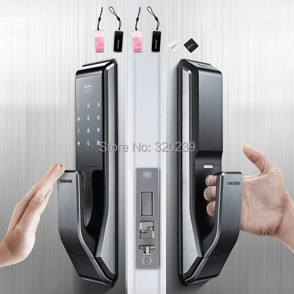 New SAMSUNG EZON SHS-P710 Push Pull Type Touch Digtial Door Lock + 6 Tag & New SAMSUNG EZON SHS P710 Push Pull Type Touch Digtial Door Lock + 6 ...