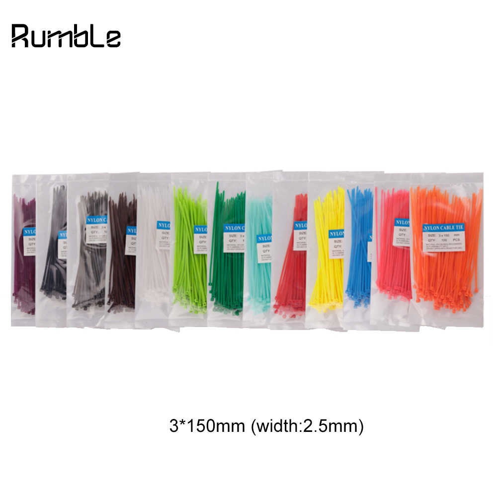 100Pcs/pack Colorful Plastic Nylon Cable Ties Wire Zip Tie Electrician Woodworking Home Garden Fishing Organizer Household Tool