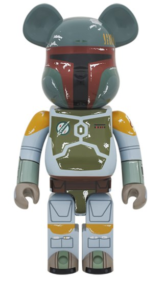 BEARBRICK 1000% BOBA FETT Fashion Toy PVC Action Figure Collectible Model Toy Decoration new hot christmas gift 21inch 52cm bearbrick be rbrick fashion toy pvc action figure collectible model toy decoration