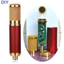DIY זהב מקצועי 34mm כמוסות מוסיקה אודיו סטודיו סאונד הקלטת הקבל מיקרופון