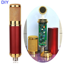 DIY Gold Professional 34mm Capsules Music Audio Studio Sound Recording Condenser Microphone