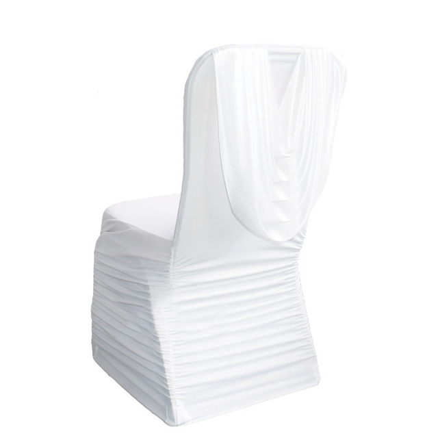 black ruched chair covers iron patio glides 100pcs lot spandex ruffle swag back seat cover for event party