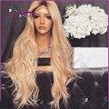 8A Mejor Ombre Rubia Llena Del Cordón brasileño Pelucas de Cabello Humano completo peluca de encaje con el pelo del bebé Del Frente Del Cordón Pelucas de Cabello Humano Rápido gratis
