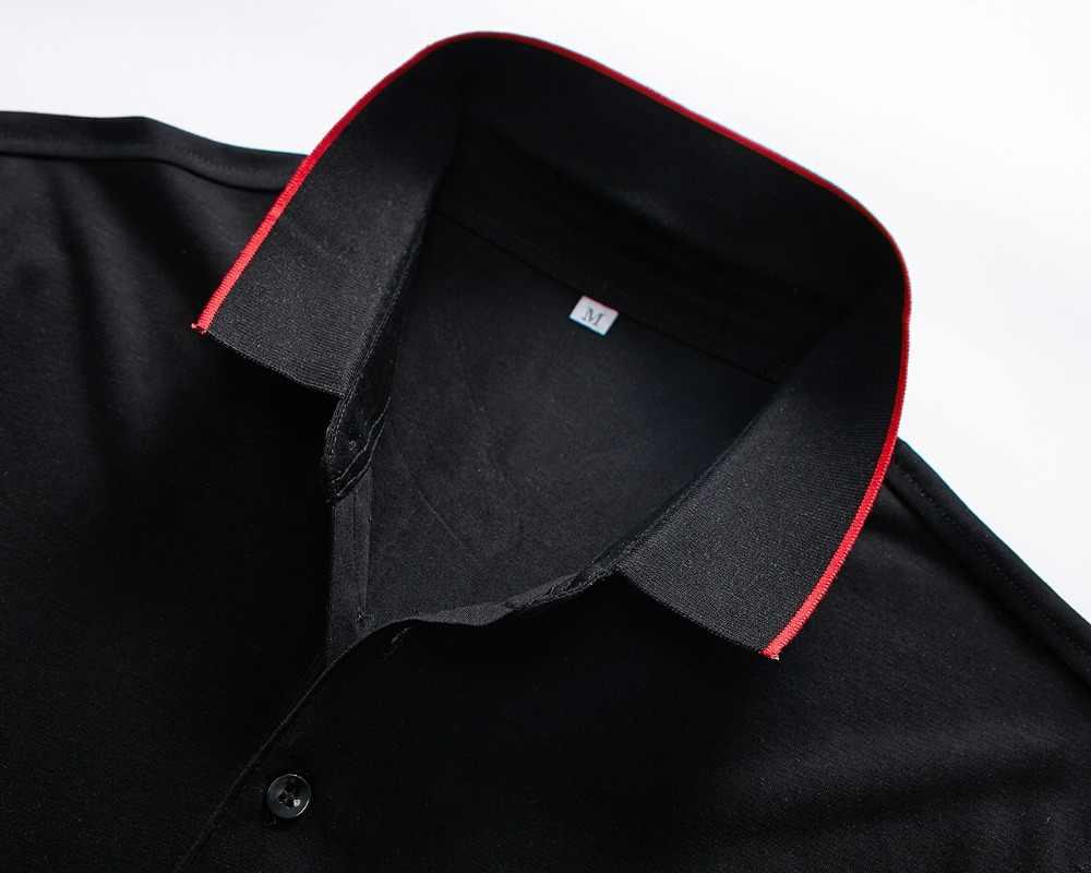 2019 新着リアル男性のポロシャツ男性 Desiger ポロシャツ綿半袖服ビジネス夏プラスサイズオムカミーサ