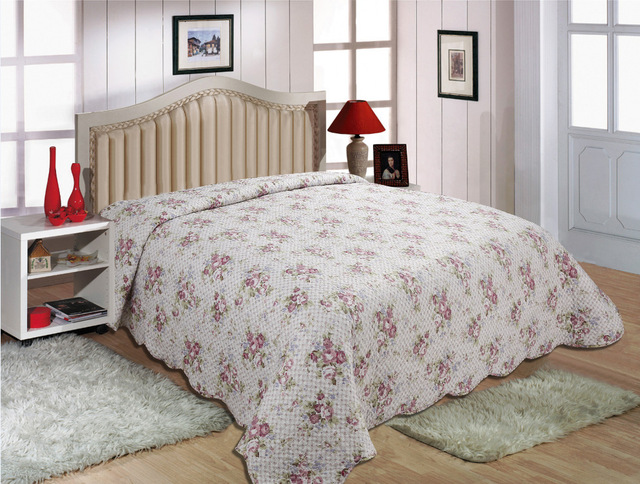 cotton quilted bedspread patchwork bedspread cubrecamas. Black Bedroom Furniture Sets. Home Design Ideas
