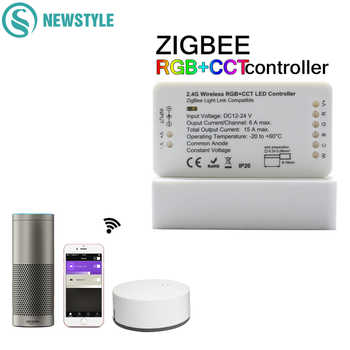 ZIGBEE Led Controller RGB+CCT WW/CW Controller LED DC12-24V LED Strip Controller ZLL APP Controller RGBW RGB Dimmer - DISCOUNT ITEM  35% OFF All Category