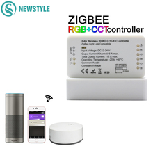 ZIGBEE Led Denetleyici RGB + CCT WW/CW Denetleyici LED DC12 24V LED Şerit Denetleyici ZLL APP Kontrol RGBW RGB dimmer