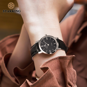 Image 3 - STARKING Reloj de acero inoxidable para mujer, de zafiro Delgado, de cuarzo japonés, Vintage, femenino