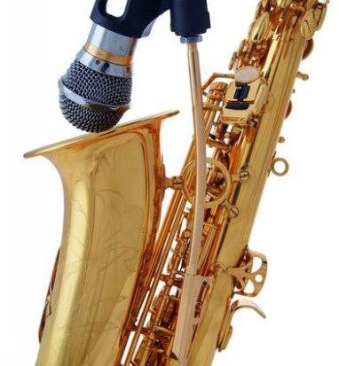 Alto Tenor Saxophone Sax Asta Del Microfono Senza Fili Del Microfono Prestazioni Professionali Clip Nuovo