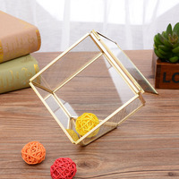Hot Sale 1PC Glass Jewelry Storage Box Transparent Geometric Home Decorative Ornament