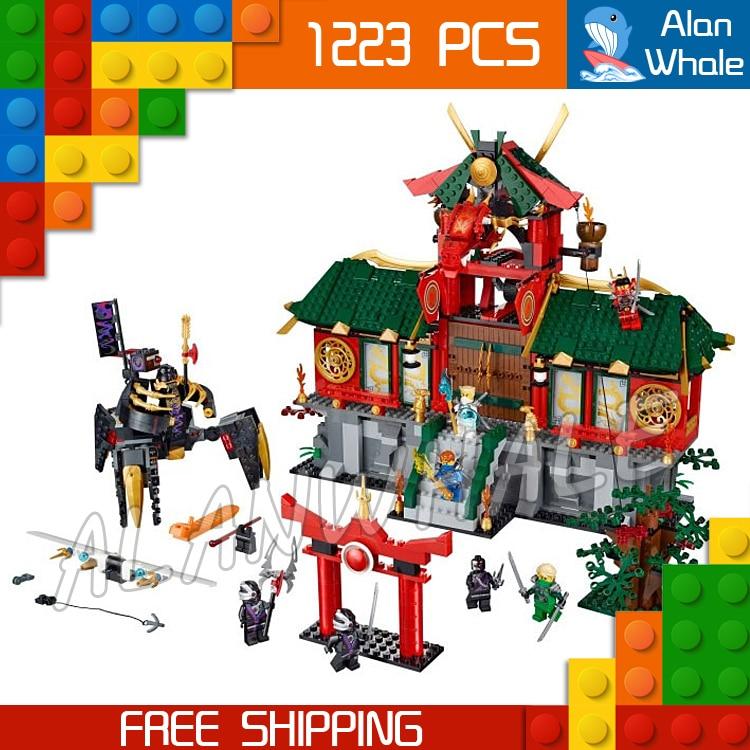 ФОТО 1223pcs Bela 9797 New 2016 Battle for Ninja City Sets Building Blocks Bricks Classic Toys Gifts Compatible With Lego