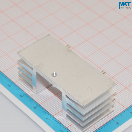 100Pcs 48mmx18mmx21mm Pure Aluminum Cooling Fin Radiator Heat Sink