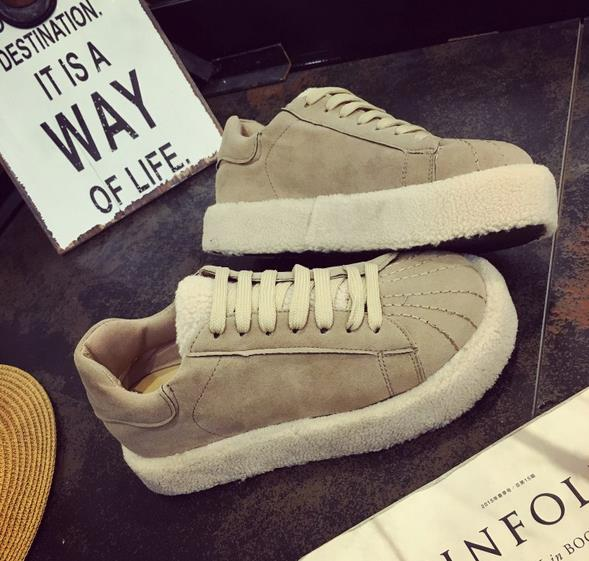 fall and winter of 2016 new fashion font b women s b font shoes bottom round