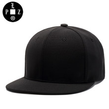 7a99b94d072 PLZ Fashion Soft Fabric Snapback Cap Hip Hop Baseball Cap Men Fashion Flat  Plain Hat Vintage
