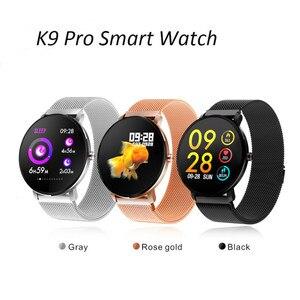 Image 1 - K9 pro esporte bluetooth 1.3 Polegada tela de toque completa relógio inteligente fitness rastreador homem ip68 à prova dip68 água mulher smartwatch pk p68 p70