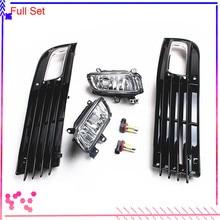Черный Передний левый правый бампер нижний противотуманный светильник светодиодный фонарь решетки крышки для AUDI A8 Quattro D3 2008-2010 4E0 807 681 4E0 807 682