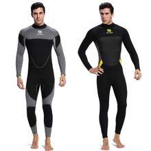 Stretchable Neoprene 3mm Men's Full Body Wetsuit Long Sleeve Scuba Diving Sports Skins, Back Zip Snorkeling Surfing Wet Suits(China)