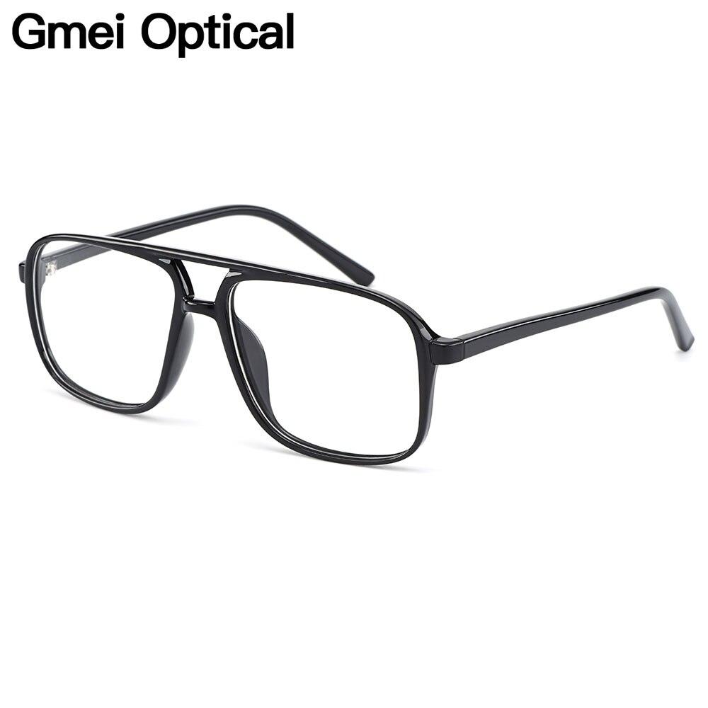 Gmei Optical Urltra-Light TR90 Retro Black Double Beam Men Glasses Frames For Prescription Eyeglasses Optical Eyewear H8024(China)