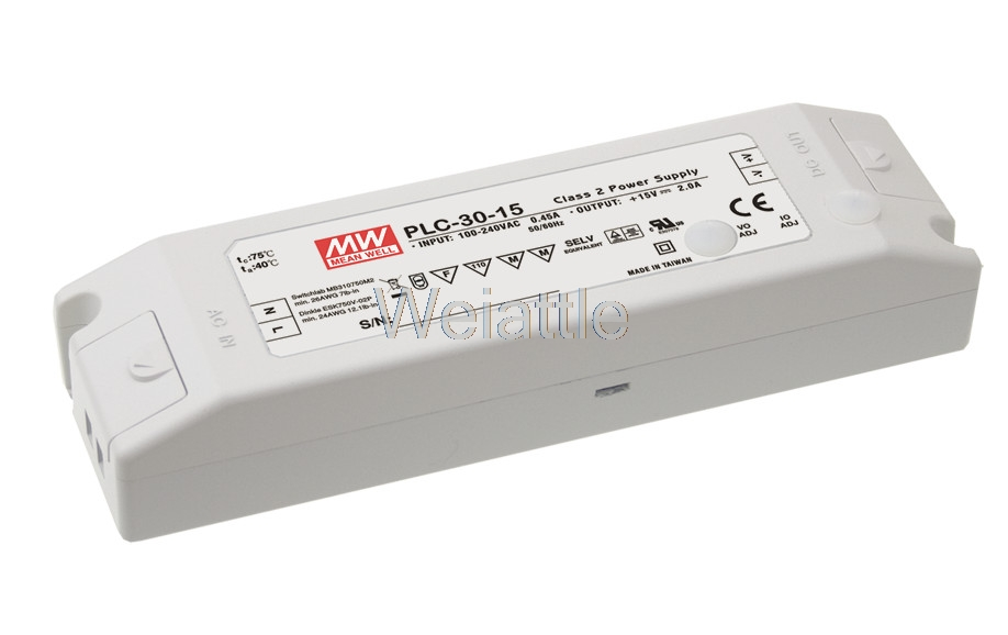 [Cheneng]MEAN WELL original PLC-30-24 24V 1.25A meanwell PLC-30 24V 30W Single Output LED Power Supply fuji plc nw0p20r 31