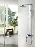 Bathroom MONITE Wall Mount Shower Set Torneira Best Sales 8 Shower Head Rainfall 52004 Bathtub Chrome