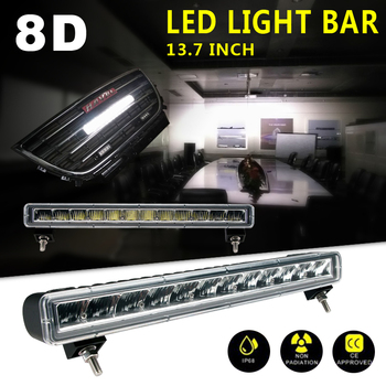 NEW 8D 13.7 inch Single Row LED Light Bar USA Standard Lamp 60W For Offroad Trucks Boat SUV ATV 4WD CAR Headlights 12V 24V IP68