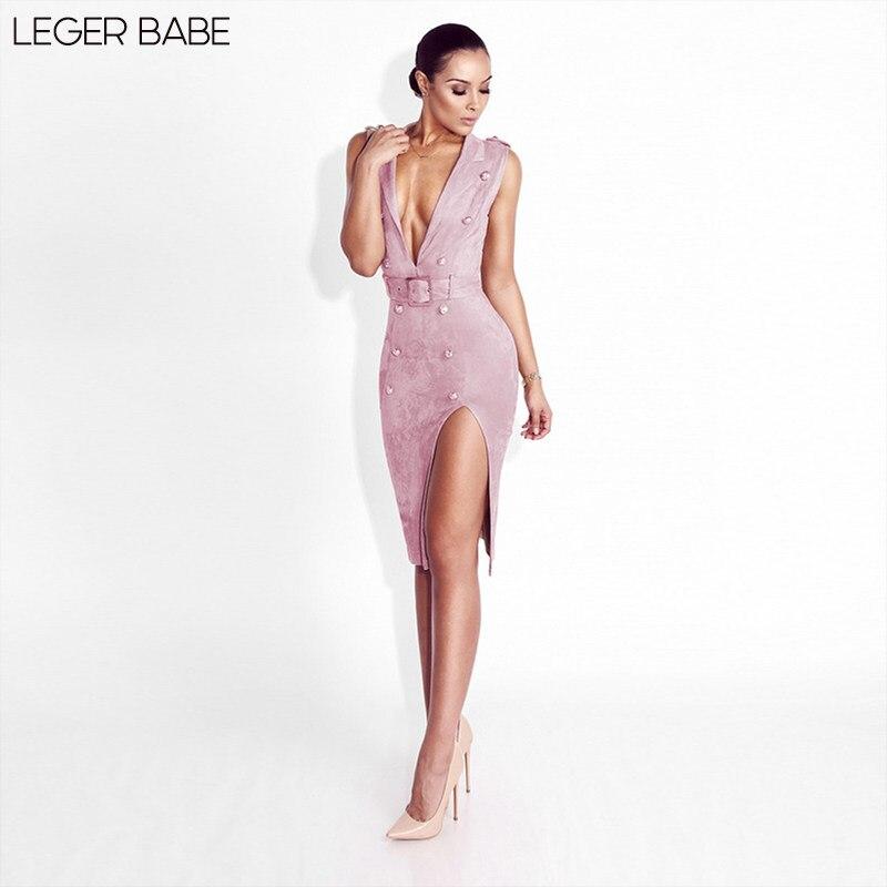 Pink Cheap Plunge Neckline Button Velvet Dress High Split Plunging Neck  Deep V Sexy Women Outfits dd230ea8a3d4