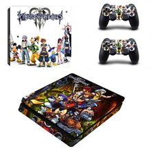 Game Kingdom Hearts 3 PS4 Slim Skin Sticker Voor Sony PlayStation 4 Console en Controller PS4 Slim Skin Decal Vinyl(China)