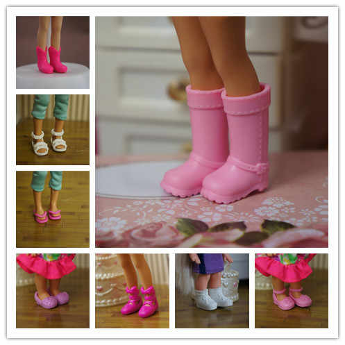 10Pairs/lot Multi-Style Cute Mini Doll Shoes Fashion Simba Little Kelly Dolls Sandles Slippers Boots Kid Toy Shoes Wholesale