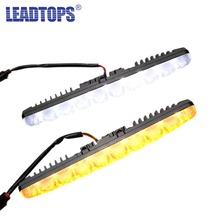 New 2PCS Super White 5 LED Universal Car Light Daytime Running Auto Light DRL Auxiliary Lamp in the day