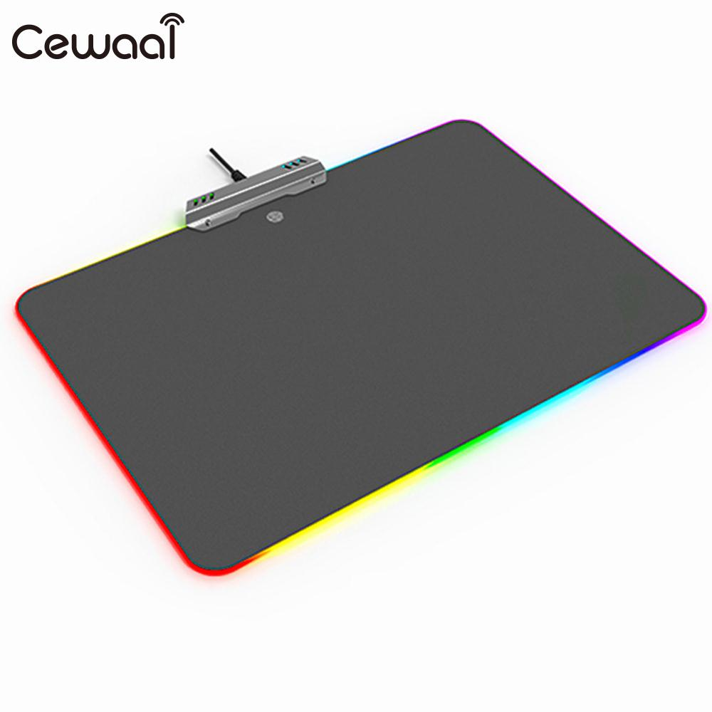 PVC Mouse Mat Mice Mat RGB Mouse Pad Office Exquisite Gaming Colorful rubber mouse pad mat black