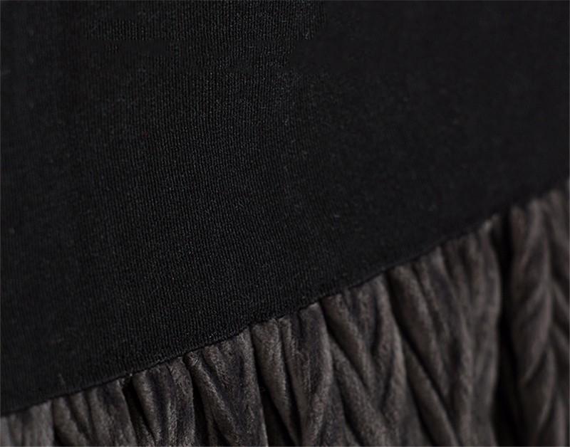 women velvet skirt 06