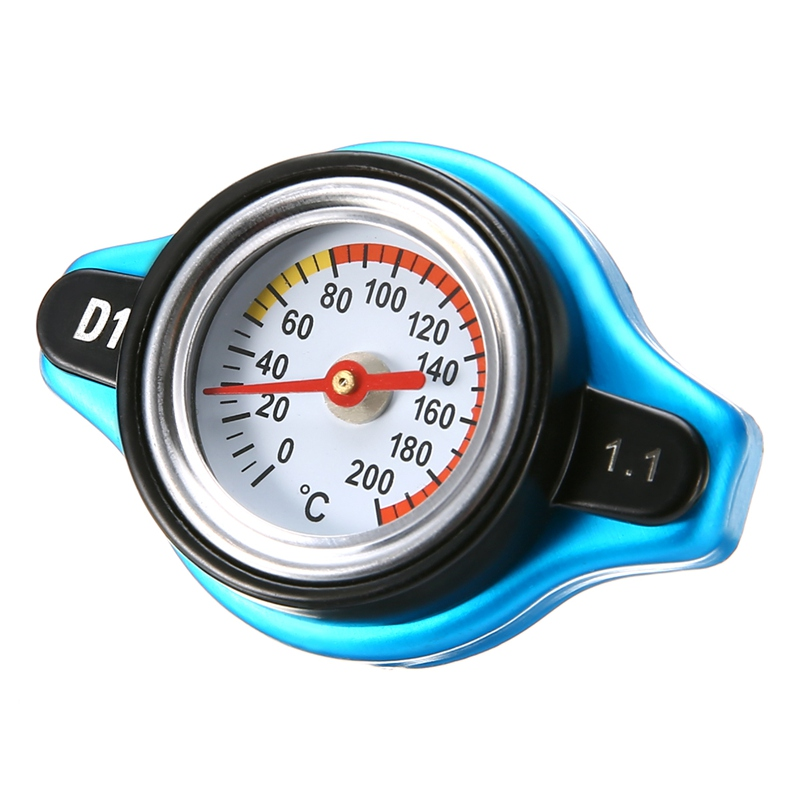 2017 New 1.1 Bar Steel Thermo Thermostatic Radiator Cap Cover 16 PSI Pressure Rating Temperature Gauge Universal Fit For Car